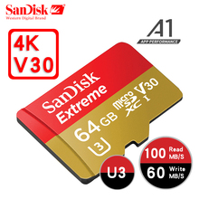 SanDisk micro SD 32GB 64GB 128GB 200GB UHS-I Card microSDXC Extreme C10 U3 100MB/S MicroSD Cards Memory Card SDHC TF Flash card(China)