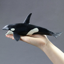 Hot toys for children:Marine biological model toy orcas, PVC plastic, do not fade, can be washed, boys for toys,girl for toys(China)
