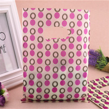 2016 New Design Wholesale 100pcs/lot 20*25cm Mixed Small Loop Packaging Bags With Handle Plastic Present Gift Bags