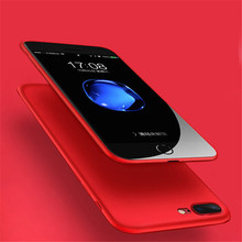 Ultra Thin soft Phone Cases for iphone 6 6s plus back cover matte tpu silicon Phone Housing for iphone 7 7 plus shell bag red(China)