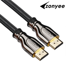 Zonyee HDMI Cable to HDMI 2.0 Version With Ethernet 24K Gold-Plated Plug 3D 4k 2160P HDTV 1m 2m 3m 5m 8m 10m Digital Cable HDMI(China)