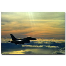 Fighting Falcon Silk Fabric Poster Print 13x20 24x36 inch Picture for Living Room Wall Decoration 001(China)