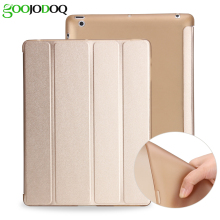 For iPad 2 3 4 Case, Ultra Slim PU Leather+Silicone Soft Back Smart Cover for Apple iPad 4 Case Auto Sleep/Wake up Trifold Stand