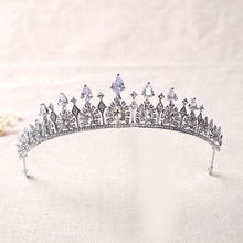 2016 Zircon Bridal Crown Crystal Wedding Hair Accessories High-end Tiara women headband Long Arm Crowns Prom Hair Jewelry