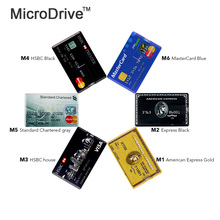 microdrive Hot sale Bank Credit Card USB 2.0 Flash Pen Drive 4GB 8GB 16GB 32GB 64GB pendrive memory stick U disk pendrives Gift