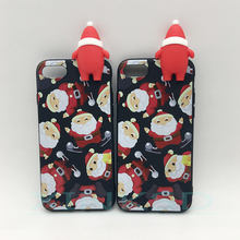Merry Christmas Tree Santa Claus Gift Happy New Year Phone Cases Back Cover Cartoon Silicone for iPhone 8 X 7 6 5S 6S Phone case(China)