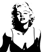 Classic Marilyn Monroe Photo Wallpaper Custom Elegant Large Wall Mural Canvas Silk POP Art Wallpaper Room decor background wall