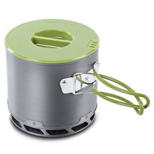 DS - 202 4pcs/set Portable Outdoor Tableware Camping Hiking traveling Cookware Cooking Picnic Non-stick Bowl Pot Pan Set+Net Bag(China)
