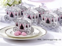 100pcs/lot Romantic Fairy tale Favors Gifts Baby Shower Wedding Candy Box Cinderella Pumpkin Carriage wedding decoration mariage(China)