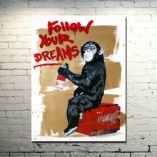 Banksy Graffiti Street Art Silk Fabric Poster 13x18 24x32 inches Artwork Print Pictures For Room Wall Decor 065