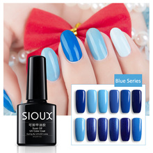 Sioux UV Gel Nail Polish Blue series Nail Polish Gel LED Light UV Manicure for Gel Nail Blue Sky Color Fingernail Polish