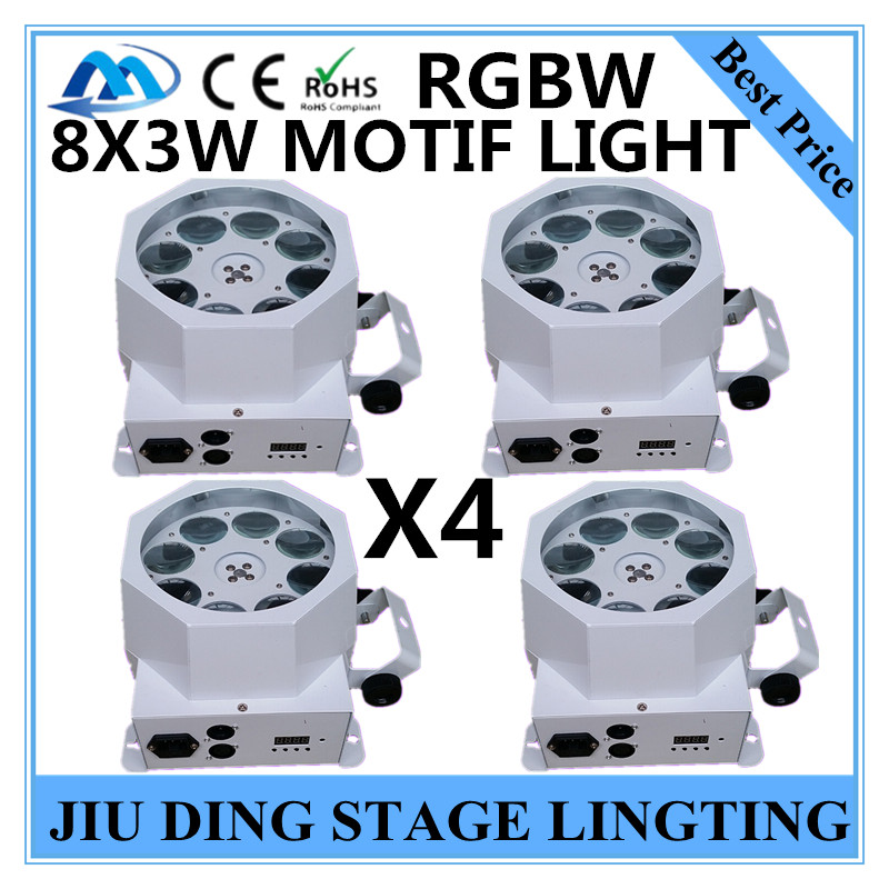 4PCS/ 8X3W motif light RGBW patterns scanning lamp dmx512 gobo light professional stage dj equipment<br><br>Aliexpress
