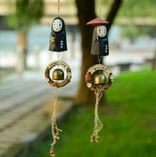 Studio Ghibli NO FACE Faceless Man Windbell Wind Chime Metal Bell Kids PVC Action Figure Resin Collection Model Toy Doll Gifts(China)