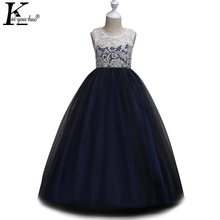 Buy KEAIYOUHUO Christmas Kids Dresses Girls Princess Dress Children Clotheing Girls Wedding Dress Costume Teenagers Vestidos for $13.84 in AliExpress store