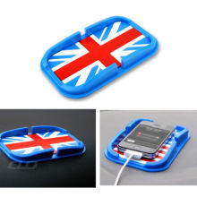 BBQ@FUKA Car Dashboard Magic Anti-Slip Mat Sticky Pad For iPhone GPS Key Holder UK Flag Fit For Bmw MINI AUDI Car accessary(China)