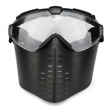 Outdoor CS War game Anti-Fog Ventilated Tactical Hunting Paintball Airsoft Goggles Full Face Electric Fan Gas Mask With Goggle
