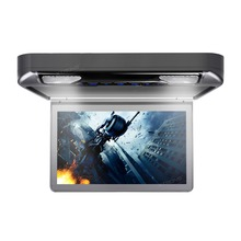 "XTRONS 13.3"" Grey Car Roof mounted Monitor 1080P Video HD Digital Wide Screen Overhead Flip Down DVD Player with USB HDMI Port"