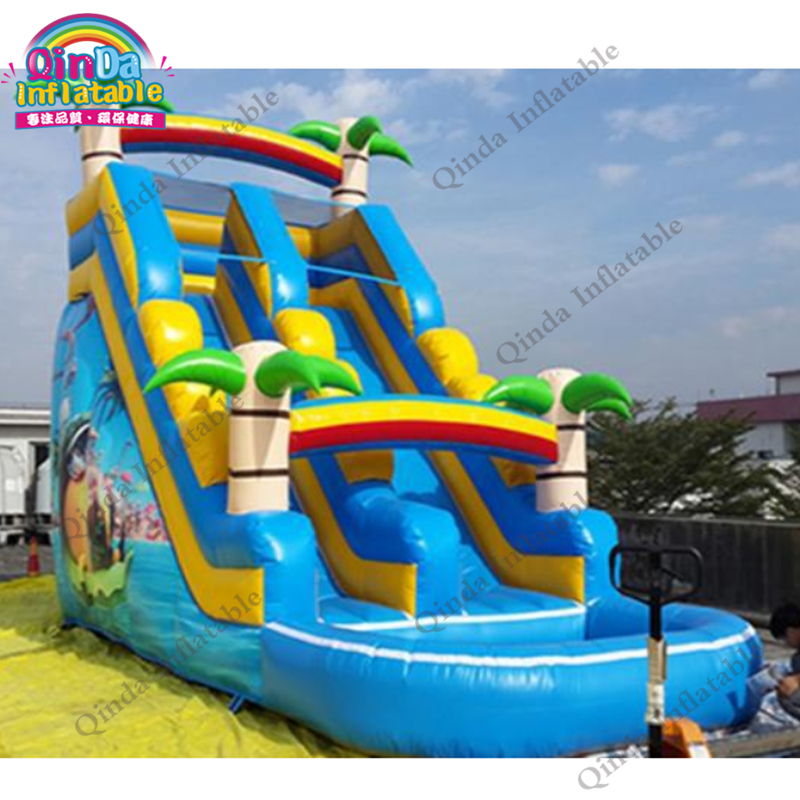 inflatable water slide with pool23