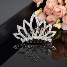 Kid Girl Rhinestone Tiara Hair Band Bridal Wedding Princess Prom Crown Headband-Y094(China)