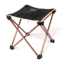 Outdoor Foldable Folding Fishing Picnic BBQ Garden Chair Tool Square Camping Stool 7075 Aluminium Alloy Hot Sale(China)