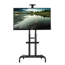 High quality NB AVA1800-70-1P 55-80 inch TV Mount Trolley LED LCD Plasma TV Cart with AV Shelf and Camera Tray(China)