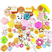 Soft Squeeze Stretchy Pendant Straps Bread Kids Toy Gift Bear Panda Doughnuts Paw Cake Squishy Slow Rising Mobile Phone Straps(China)