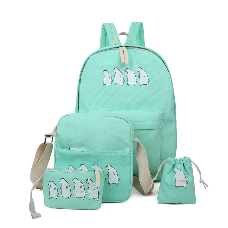 LEFTSIDE 4 pcs/set summer simple women shoulder bag backpack canvas backpacks for teenage girls school back pack bags<br><br>Aliexpress