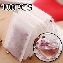 100Pcs/Lot Teabags Empty Tea Bags With String Heal Seal Filter Paper for Herb Loose Tea 301-0448(China)