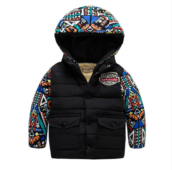 childrens clothing winter child down cotton-padded coat male child  thickening wadded jacket with a hoodОдежда и ак�е��уары<br><br><br>Aliexpress