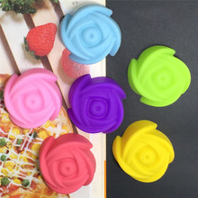 10pcs/lot 3cm Rose Flower Shaped Silicone Mold Chocolate Jelly Pudding Cake Molds Bakery Cupcake Moulds Baking Bakeware Tools