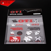 Car Styling GTI Car Body PVC Sticker 3M Vinyl Wrap VW Racing Decal Die Cut Sticker Pegatinas Aufkleber Adhesive Printing Sticker