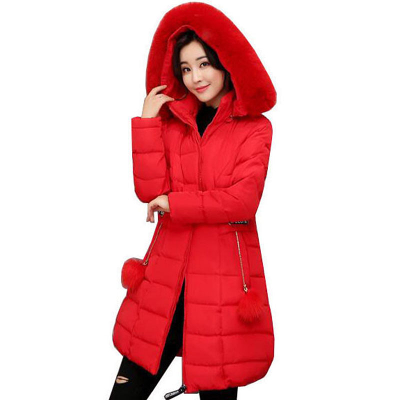 Winter Jackets Women 2017 Winter And Autumn Wear High Quality Parkas Winter big collar Jackets Outwear Women Long Coats QH0533Îäåæäà è àêñåññóàðû<br><br>