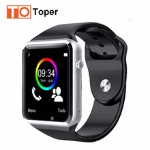 2017 Toper Newest Smart Watch A1 1.54inch Screen Bluetooth Smartwatch Support SIM/TF Card for IOS Android Smartphone Phone Watch