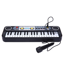 Kid's Musical Instrument Professional Music Toys 37 Keys Baby Piano Black keyboard Musical Educational Toys For Children Gift(China)