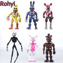 New Rohyi Hot Sale 6pcs/Set 17cm Five Nights At Freddy's figure FNAF Bonnie Foxy Freddy Fazbear Bear Doll PVC Action Toy Figures