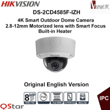 Hikvision Original English Vesion DS-2CD4585F-IZH 8MP POE 4K Smart Outdoor Dome Camera Heater Audio/Alarm IO CCTV Camera