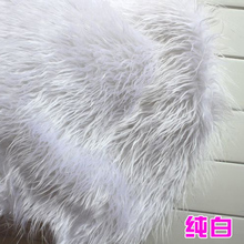 "White  Solid Shaggy Faux Fur Fabric  Mongolian Curly Sheep Faux Fur Fabric  Costumes  36""x60"" Sold By The Yard  Free Shipping"