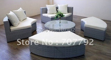 Hot sale plastic rattan  sofa cum bed furniture