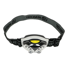 SUNREE 100m lamp White + Red Flashing Head Light Waterproof Led Headlight AAA LED Headlamp For Outdoors Camping Cycling
