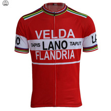 New men classic red Cycling jersey  Short sleeve Retro pro team Cycling clothing ropa ciclismo Outdoor sports Triathlon custom