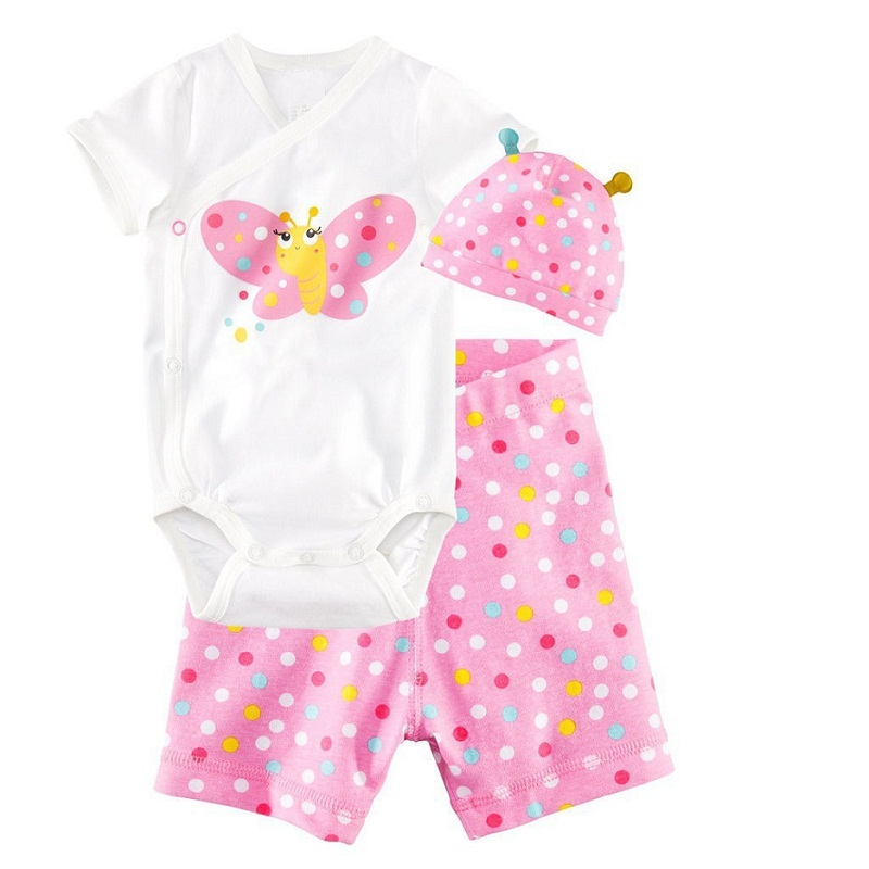 Newborn Baby Girl Outfits Infant Clothing Baby Girl Summer Clothes Vetement ( Romper+Headband+Pants)<br><br>Aliexpress