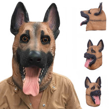 Scary Wolf Dog Latex Mask Breathable Novelty Full Face Head Mask Halloween Masquerade Mask Fancy Dress Festival Party Decoration(China)