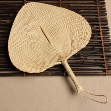 Chinese hand fan Straw wedding souvenirs home decoration crafts vintage poetry hand-woven ladies and family fans(China)