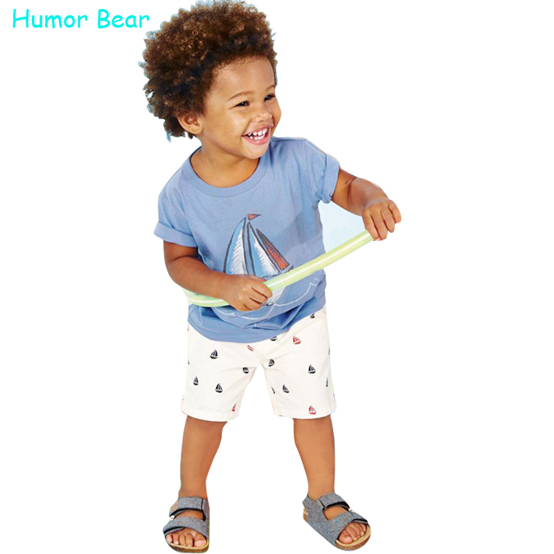Humor Bear baby boys clothes set boys Cartoon T shirt + pant 2 Pcs Set Casual kids Set Childrens clothes<br><br>Aliexpress