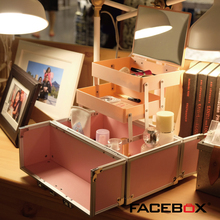 Facebox Makeup case small Beauty Suitcase 3type different colors makeup artist box portable Bag for Girl Makeup artist(China)