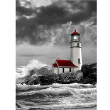 special shapeddiamond embroiderysealighthouse5ddiamond paintingcross stitch3ddiamond mosaichome decorationchristmas