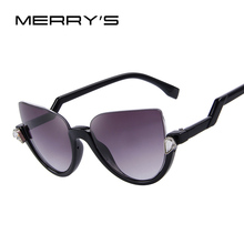 MERRY'S Women Sunglasses Semi-Rimless Frame Z-Shaped Temple Metal Hinges Sun Glasses Brand Designer UV400
