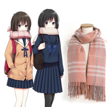 Japanese anime cute scarf JK student uniform scarf tassel long plaid scarves