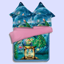 textile peacock four pieces of 3D bed sheet bedding special set of 4 pieces of 4 sets of factory direct wholesale(China)