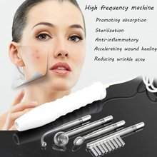 High Frequency Darsonval Wand Spot Acne Remover Electrode Facial Hair Spa Massage D'arsonval Wand Kit Electrotherapy